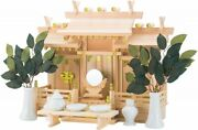 Shinto Altar Wooden Kamidana Home Size Small Complete Item Set Fast Shipping