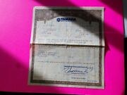 1984 Yamaha Motorcycle Historical Paperwork Document Rare Barn Find
