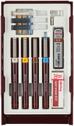 Rotring Rapidograph College Set - 0.25mm/0.35mm/0.50mm/0.70mm