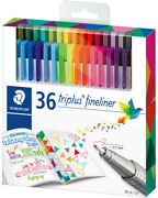 Staedtler Triplus Fineliner Pens - Assorted Colours Pack Of 36