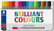 Staedtler Triplus Fineliner Pens - Assorted Colours Tin Of 30