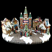 Christmas Village Display With Create Your Own Led Message Sign / See Video
