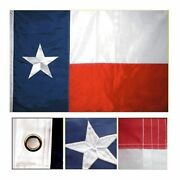 Texas Flag 8and039 X 12and039 Ft 210d Nylon Premium Outdoor Embroidered Double Sided Flag