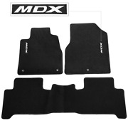 For 07-13 Acura Mdx Floor Mats Carpet Front And Rear Nylon Black W/ Mdx