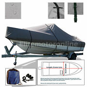 23and039-24.5and039 V-hull Walk Around Cuddy Cabin O/b Trailerable Boat Cover Grey
