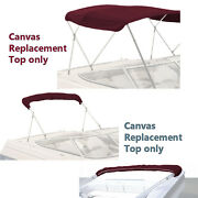 Bimini Top Boat Cover Canvas Fabric Burgundy W/boot Fits 3bow 72l 36h 91-96w