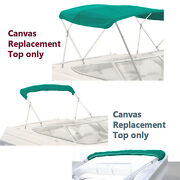 Bimini Top Boat Cover Canvas Fabric Teal W/boot Fits 3 Bow 72l 54h 85- 90w