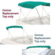 Bimini Top Boat Cover Canvas Fabric Teal W/boot Fits 3 Bow 72l 54h 73-78w