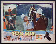 Destry Rides Again Tom Mix Claudia Dell Universal Western 1932 Lobby Card
