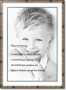 Arttoframes Matted 28x40 Natural Picture Frame With 2 Double Mat, 24x36 Opening