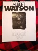 Albert Watson Calendar 1998 From Ilford Signed 2xand039s Cover/inside Large Very Rare