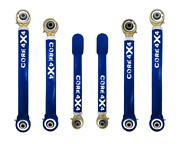 Adjustable Control Arms Complete Set T4 Grand Cherokee Wj 1999-2004 - Blue