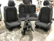 2016-2018 Ford Mustang Black Cloth Front And Rear Seats W/console Driver Power