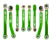 Adjustable Control Arms Complete Set T4 Wrangler Lj 1997-2006 - Light Green