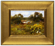 Cyrus Afsary Original Painting Oil On Board Western Landscape Signed Framed Art