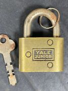 Antique Yale And Towne Mfg Co. Junior Padlock With Key Working Lock Vintage Usa