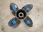New Counter 4 Blade 14 X 19p Mercury Offshore Ss Prop 48-825901-19 3354