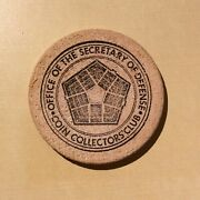 Office Of The Secretary Of Defense Coin Collectors Club Coin Show 1976 - Wooden