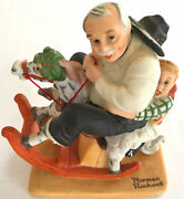 1980 Danbury Mint Norman Rockwell Figurine Gramps At The Reigns 6x5x3.5 1lb