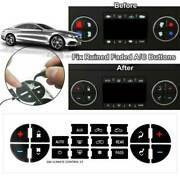 2pcs Replacement Ac Dash Button Repair Kit For Chevrolet Gmc Tahoe Decal Sticker