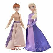 Disney Store Official Frozen Anna And Elsa Doll Anna And Snow Queen 2 Japan
