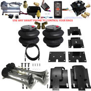 B Air Leveling Tow Kit 1500 Ram 2009-2018 Bluetooth Controller And Horn