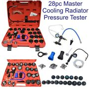 Master Cooling Radiator Pressure Kit With Vacuum Purge And Refill 28pc Car003