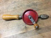 Vintage Eggbeater Hand Drill Defiance Stanley No. 1221 - Usa Tool Carpenter Wood