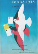 Original Vintage Poster Imaba Post Stamp Expo Doves 1948