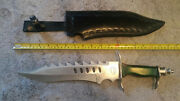 Frost Cutlery Bowie Knife Dragon Dagger 12 Blade 18 Overall Green -with Story