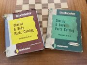 Lot Of 2 Studebaker Chassis And Body Parts Catalogs For 1965-66 S-v Model Cars