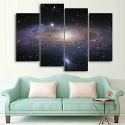 Andromeda Galaxy Stars 1 2 3 4 And 5 Piece Space Canvas Wall Art Decor Images M