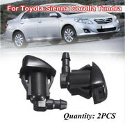 2pcs Front Windshield Washer Fluid Spray Jet Nozzle Kits For Toyota Vehicle