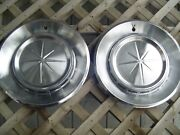 Two Vintage 1960 60 Lincoln Continental Premier Hubcaps Wheel Cover Ford Mercury