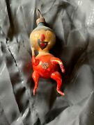 German Antique Glass Clown Figural Victorian Christmas Ornament 1900and039s