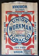 2 Vintage Union Workman Chewing Tobacco 7 Paper And Foil Packs