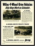 1954 Kaiser Willys Jeep New Metal Sign Universal + Pickup Truck On The Farm