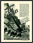 1940 Ohio Power Shovel Co New Metal Sign Lima Paymaster Shovel In Los Angeles