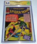 Amazing Spider-man 11 Cgc Ss Signature Autograph Stan Lee 2nd Doctor Octopus 💎