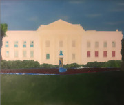 The White House Oil Painting On A 2939 Inch Canvas Done By The Artist West.