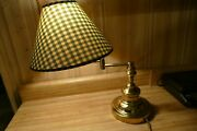 Brass Table Desk Lamp, Any Position, Retractable / Extending Arm, 14 Inch