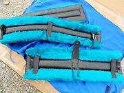 Horse Or Mule Fleece Harness Saddle And Breast Collar Pads Set Amish Made Teal