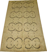 Vintage Muted Turkish Ushak Oushak Rug Size 4and03910and039and039x9and0392and039and039