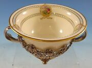 Chrysanthemum By And Co Sterling Silver Bouillon Cup W/lenox Liner 2635