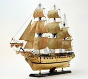 Usf Confederacy 1778 1/64 Scale Handmade Wooden Ship Model Museum Quality