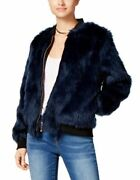 Say What Juniors Faux-fur Bomber Jacket Navy Small 307
