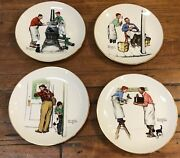 1979 Gorham Norman Rockwell Four Seasons Collector Plates Limited Edition Boxed
