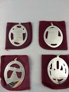 1976-79 Lunt Complete Music Series Sterling Christmas Ornaments Excellent W/bags