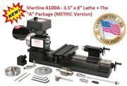 Sherline 4100a - 4 Jaw Chuck 3.5 X 8 Lathe Metric + The A Package