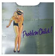 Nose Art Panel- Problem Child Wwii Aviation B-17 Flying Fortress Nap-0131